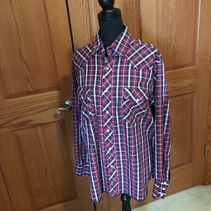 Wrangler men's western shirt size Large